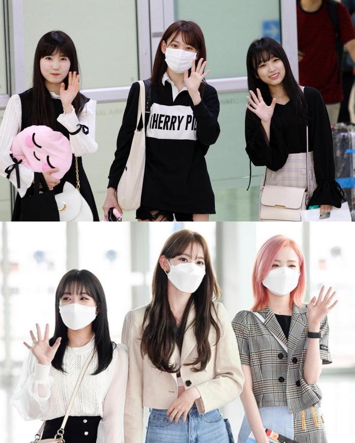 Photo : 180926 / 210429 Yabuki Nako, Honda Hitomi, And Miyawaki Sakura @ Incheon Airport
