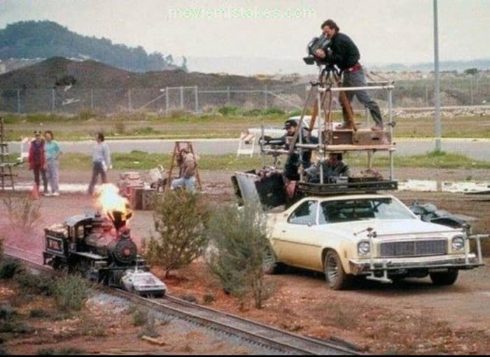 This is how they filmed the train scene in Back To The Future 3