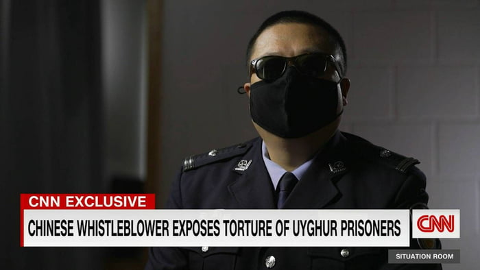 """A police officer """"Jiang"""" who worked in the Uighur region confirms the mass detention of 900,000 people in ONE year, gang rapes and torture without any cause or evidence. The story repeats itself, but remember, China is asshoe"""