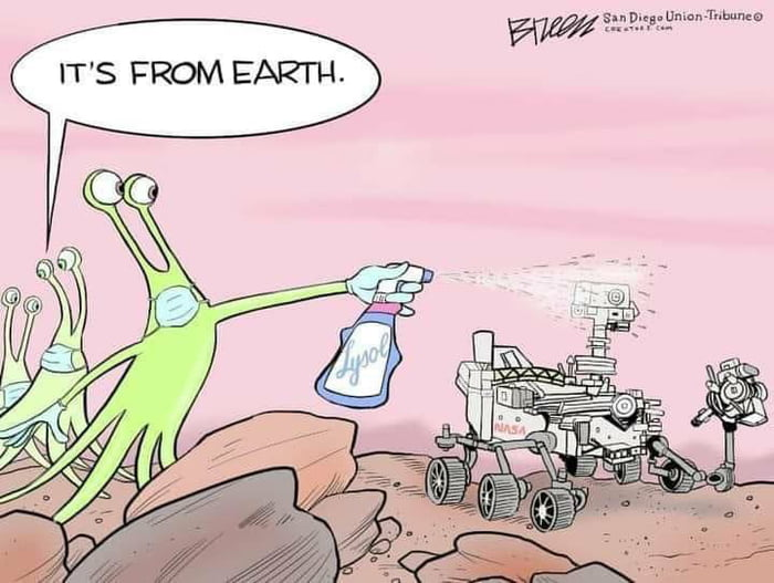 Its from earth...