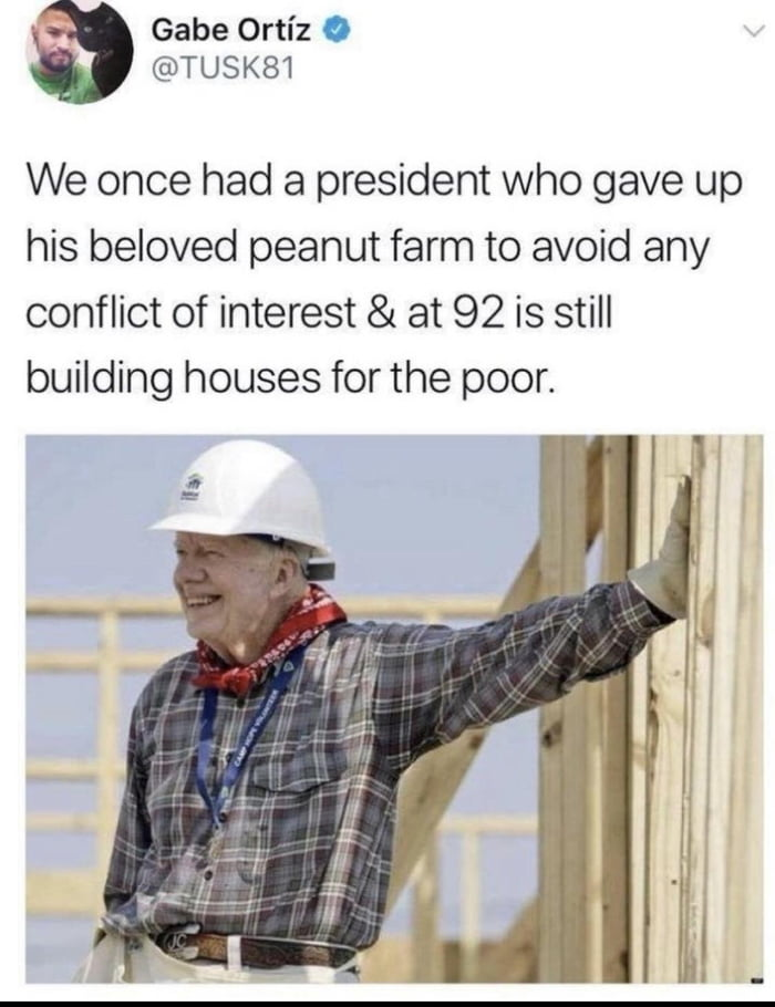 Did not know Jimmy Carter did this