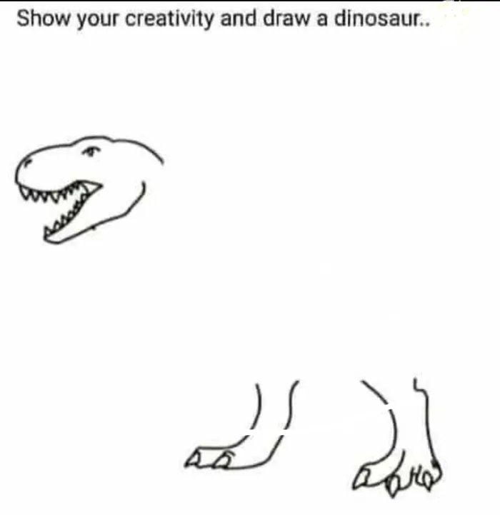 Pls Draw the most f*cked up Dino for a good laugh