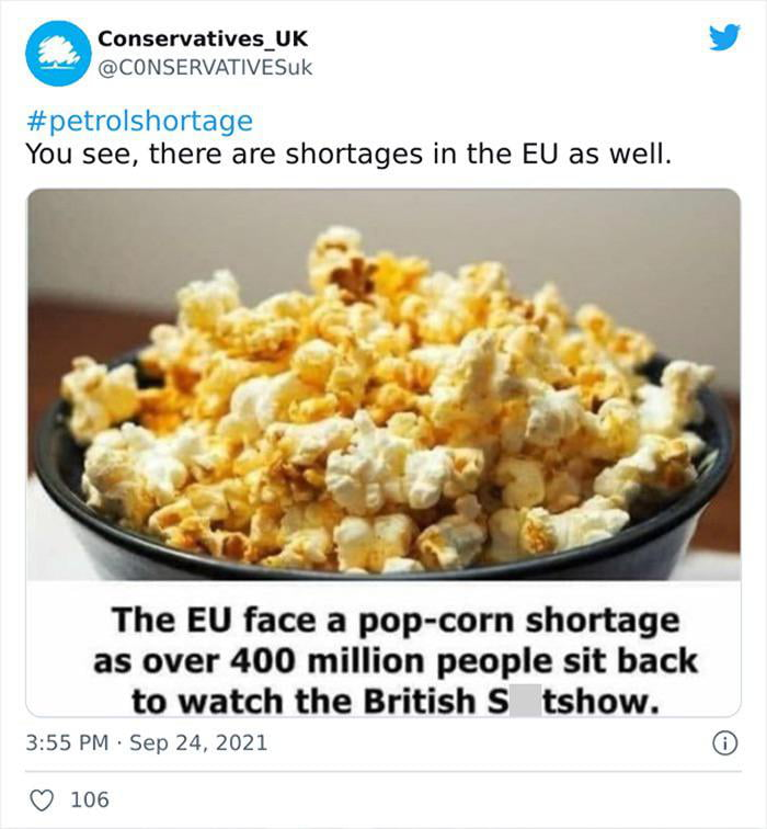 The popcorn shelves were empty!