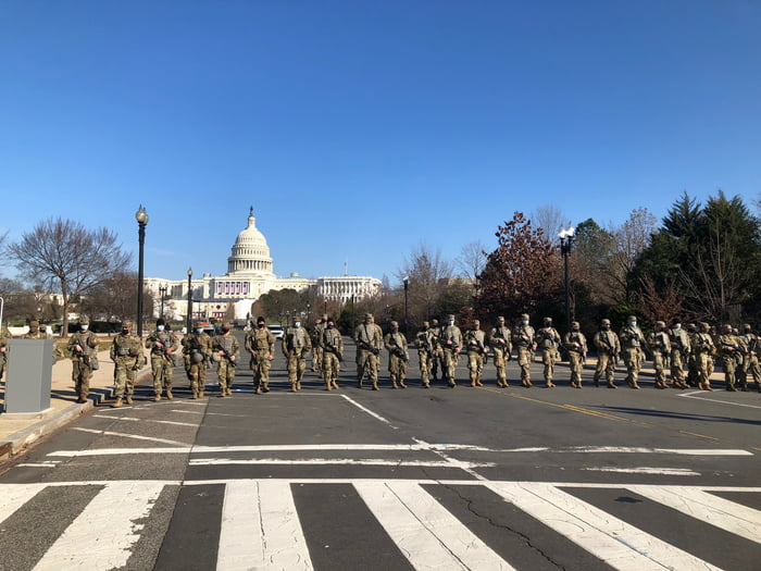 There are currently more armed US forces on the streets in DC than in the whole middle east...