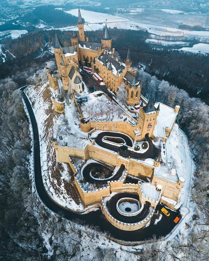 The Majestic Hohenzollern Castle in Winter