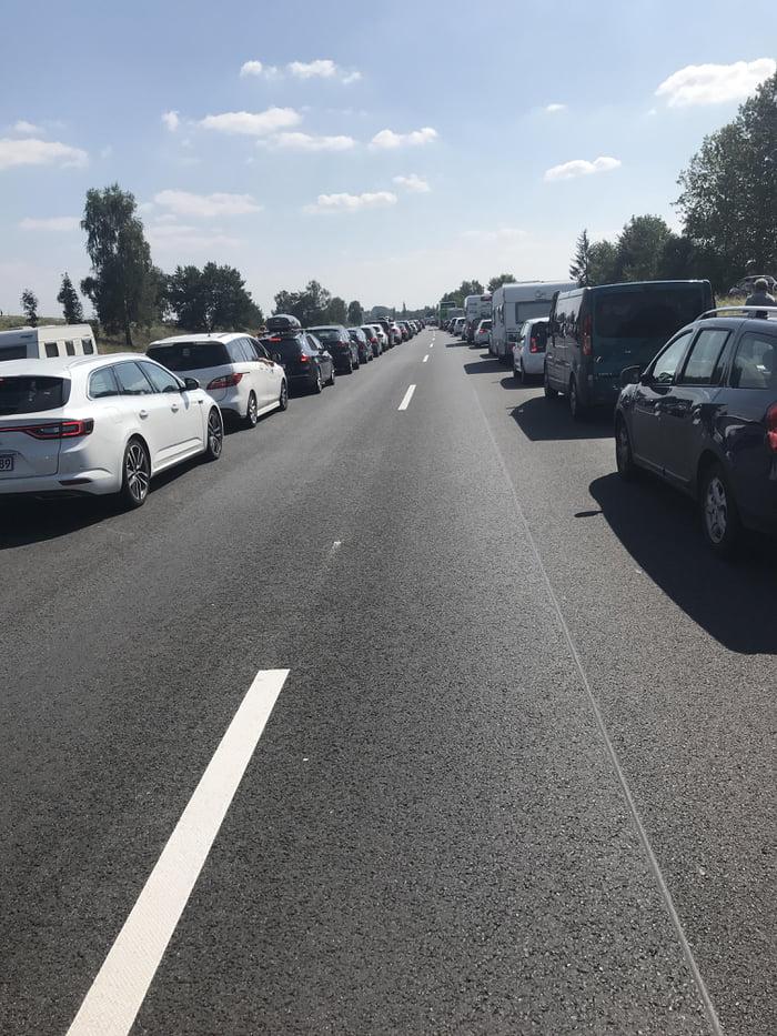 Traffic jam in germany