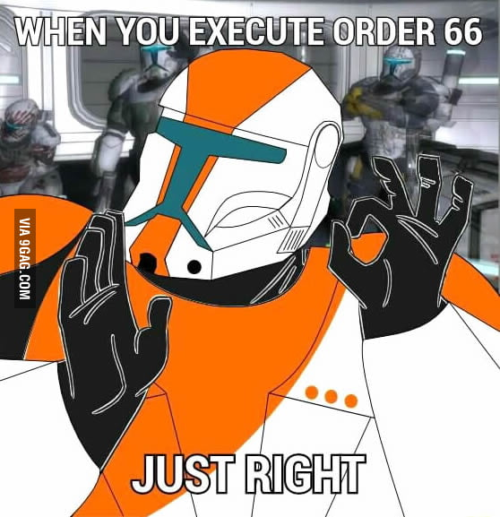 When you execute order 66 just right