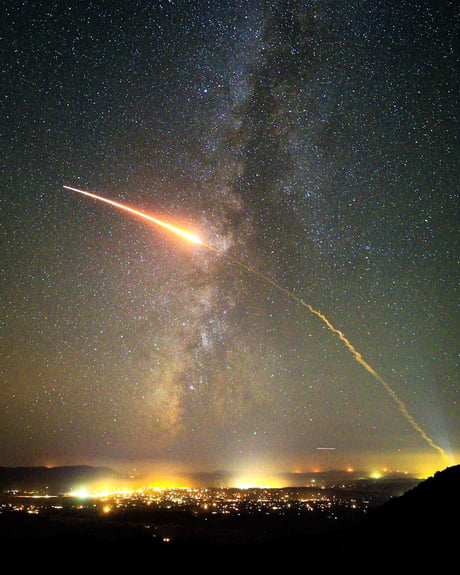 Captured the second stage of an Atlas V rocket over Santa Barbara county!