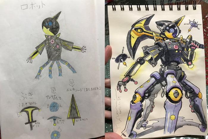 Çocuğunun Çizimlerini Animeye Dönüştüren Baba