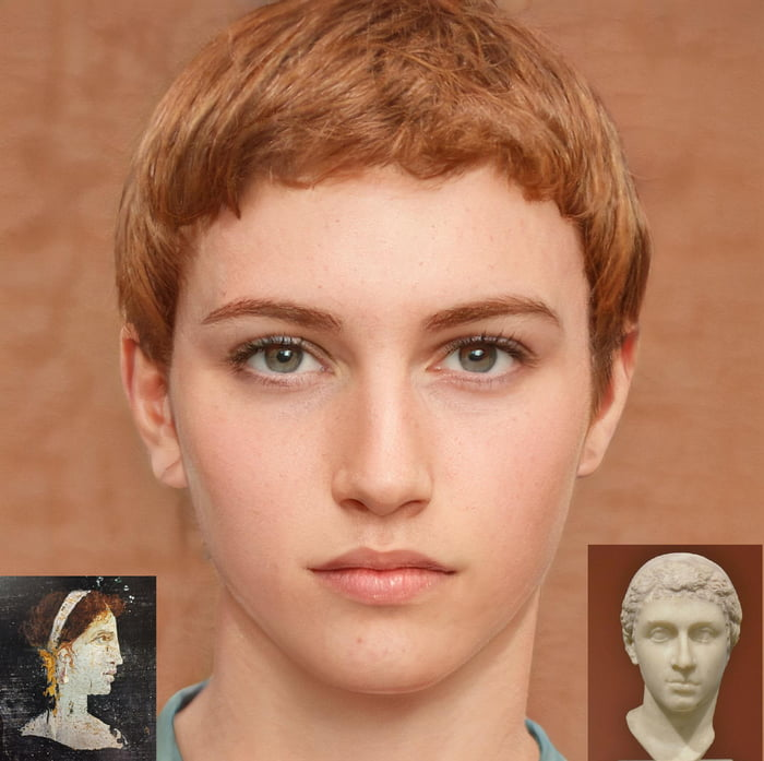 Reconstruction of what Cleopatra looked like based on a bust and a portrait from Heracleanum