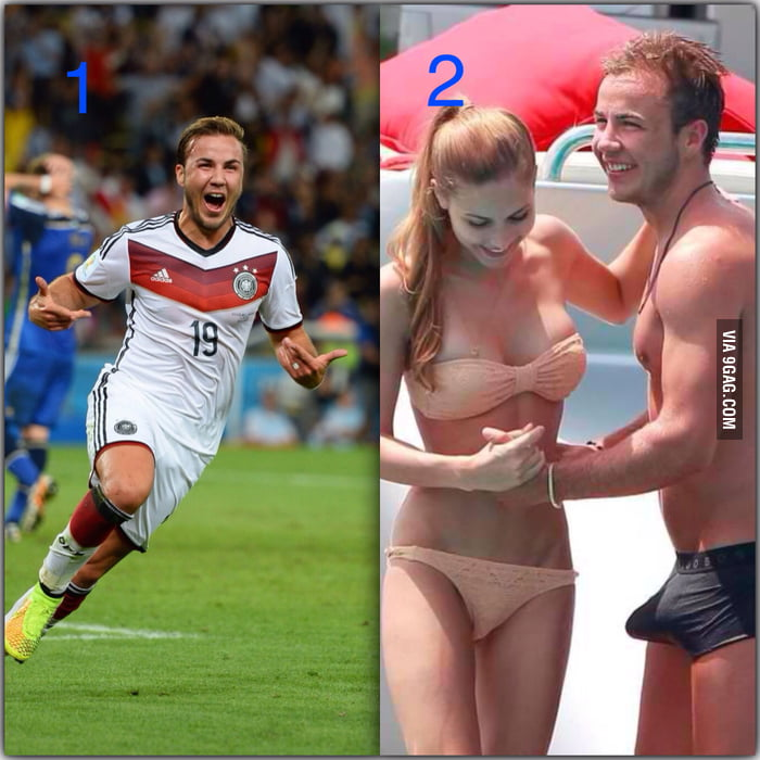 Two big moments of Götze's life.. I don't know man, but he looks happier on the 2nd occasion..