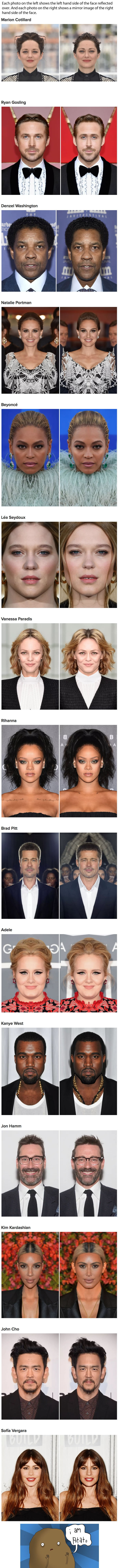 How Celebs Look Like If Their Faces Were Perfectly Symmetrical