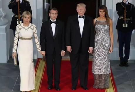 Brigitte Macron And Donald Trump Look Like Melania Trump And Emmanuel Macron S Parents 9gag