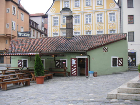 This restaurant in Regensburg, Germany, is serving sausages since over 850 years and is still owned by the same family.