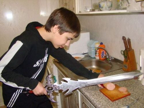 When you are a lvl 90 Death Knight, but always remember to help your mom in kitchen
