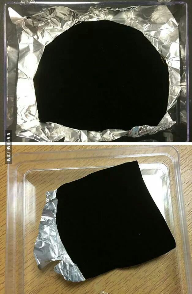 Darkest man made material, Vantablack: only 0.035% reflection