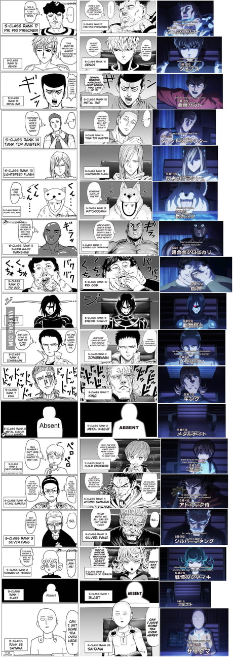 Original Redraw And Anime Comparison One Punch Man 9gag