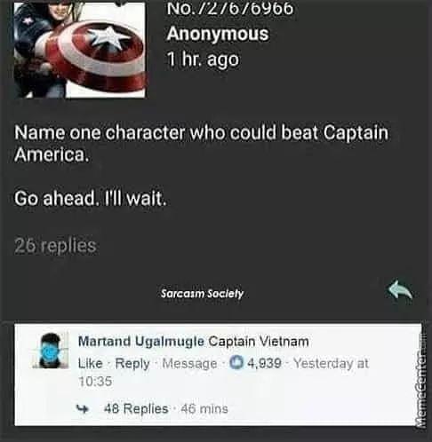 Poor Captain America