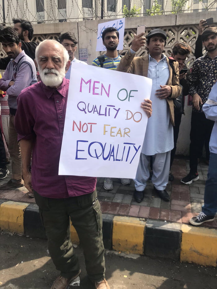 Sign at Pakistan's Women's March