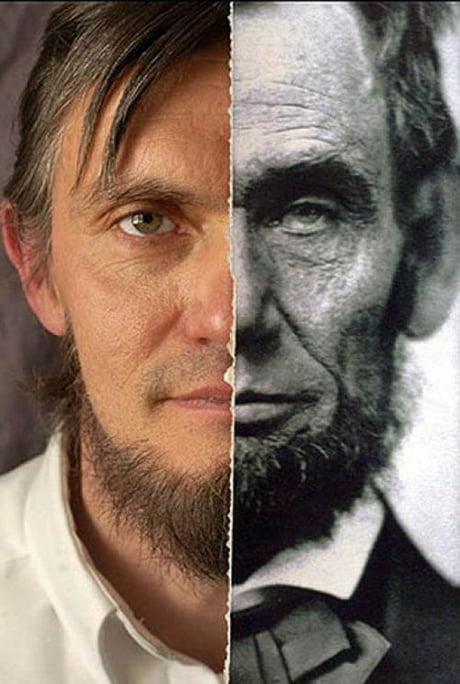 Awesome Abraham Lincoln, with Ralph Lincoln, an 11th generation Lincoln and third cousin of the late president.
