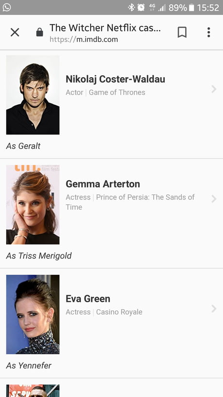 Cast For Witcher Series 9gag
