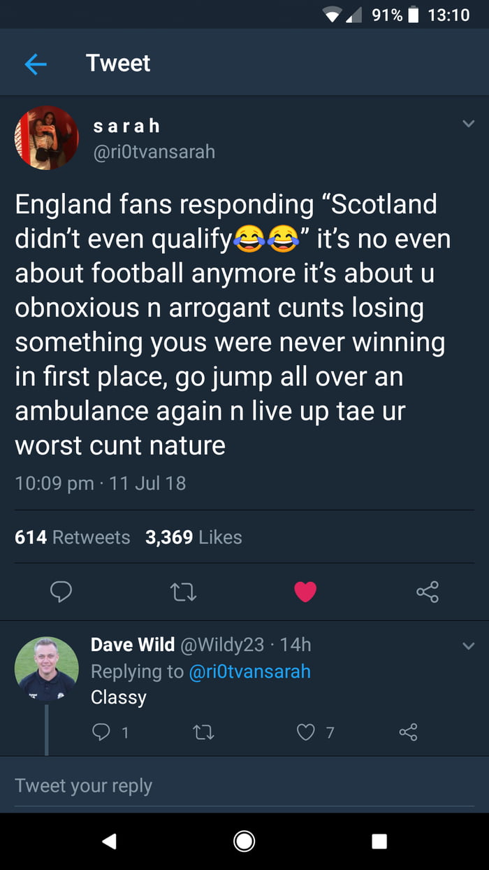 Scottish twitter on fire after England get knocked out
