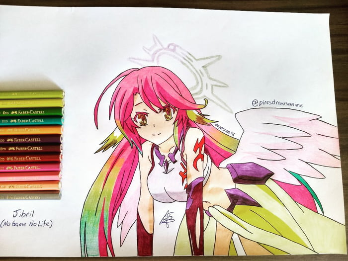 """My drawing of Jibril from """"No Game No Life""""!"""