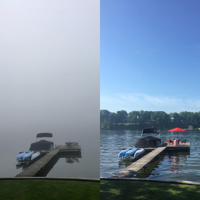Michigan. The view at 9am vs. 11am