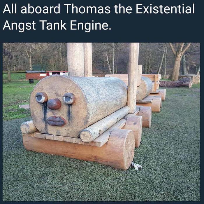 Thomas the low self esteem engine