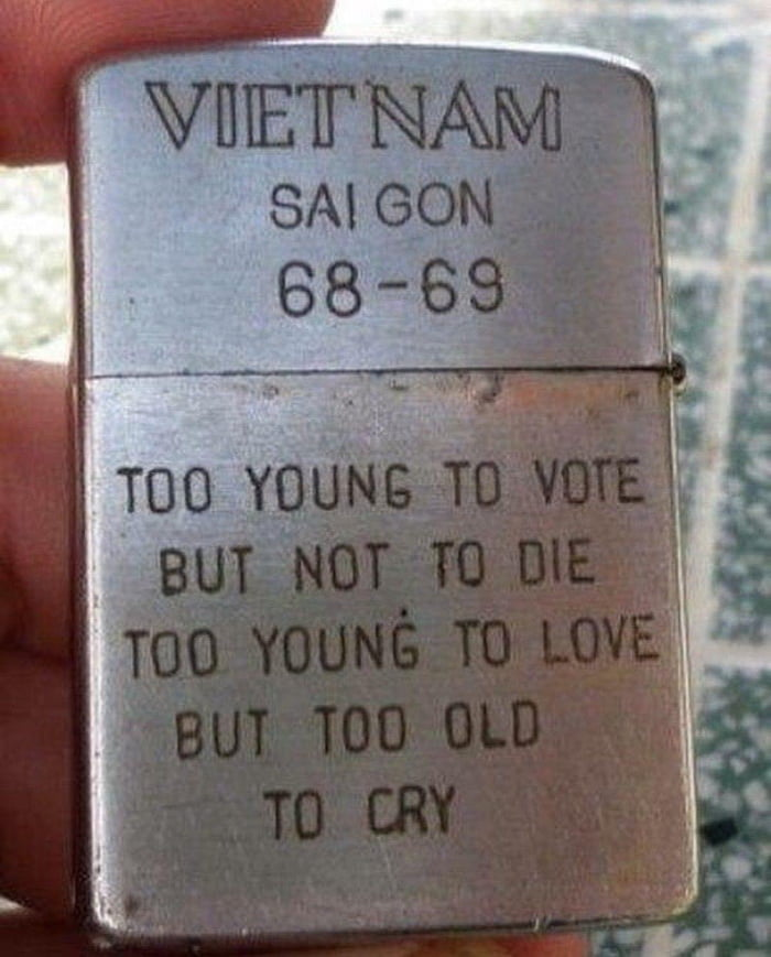 Zippo lighter from a US soldier in Vietnam