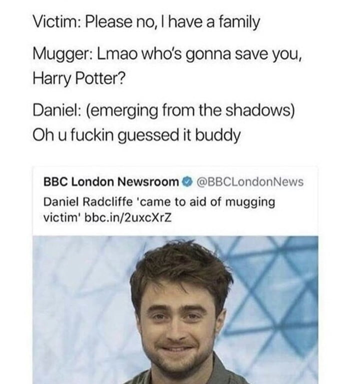 Think of Harry Potter when in a bad situation