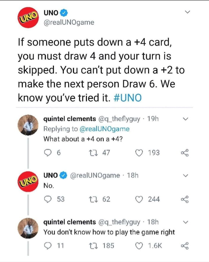 Uno doesn't know