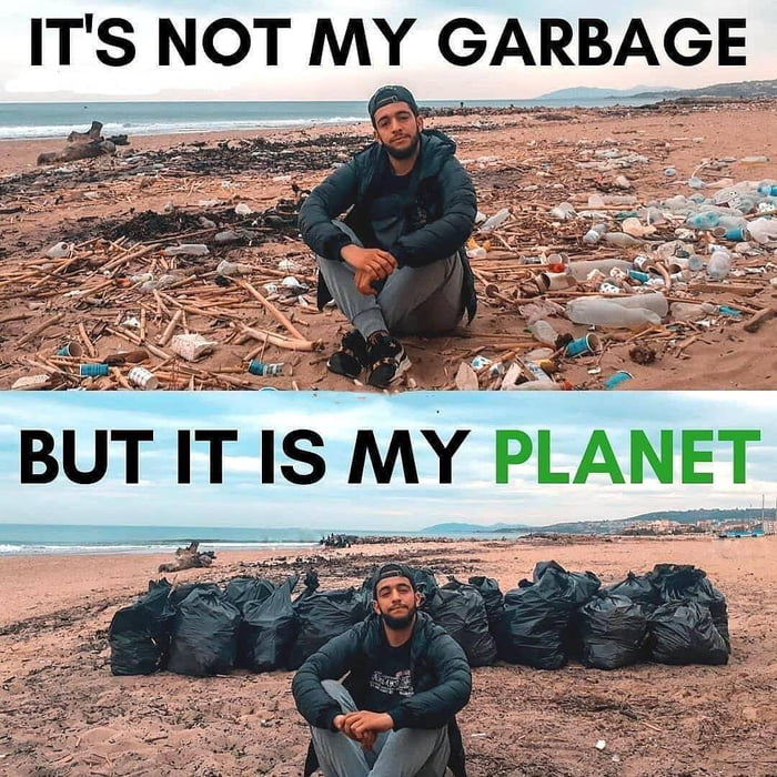 Keep the earth clean -- change it to Green