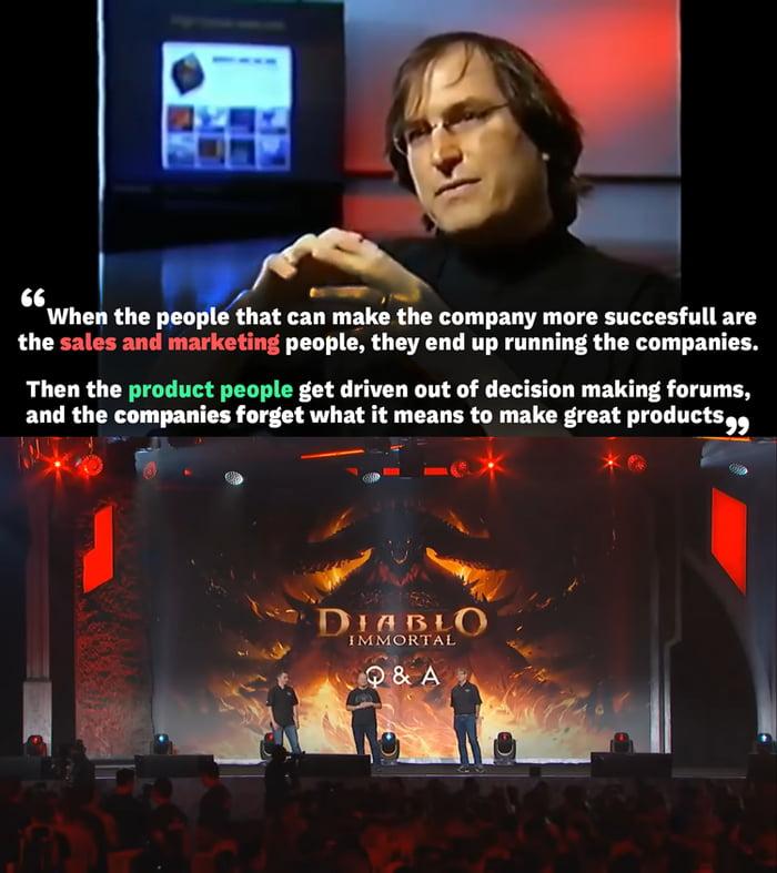 Steve Jobs said it first