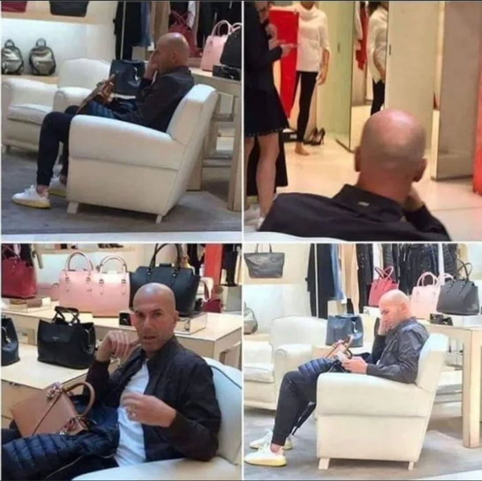 You can be one of the best players ever, you can win league titles as many as you want, you can lifting the Champions League trophy... but when your wife goes shopping you have to hold her bag and wait like everyone else