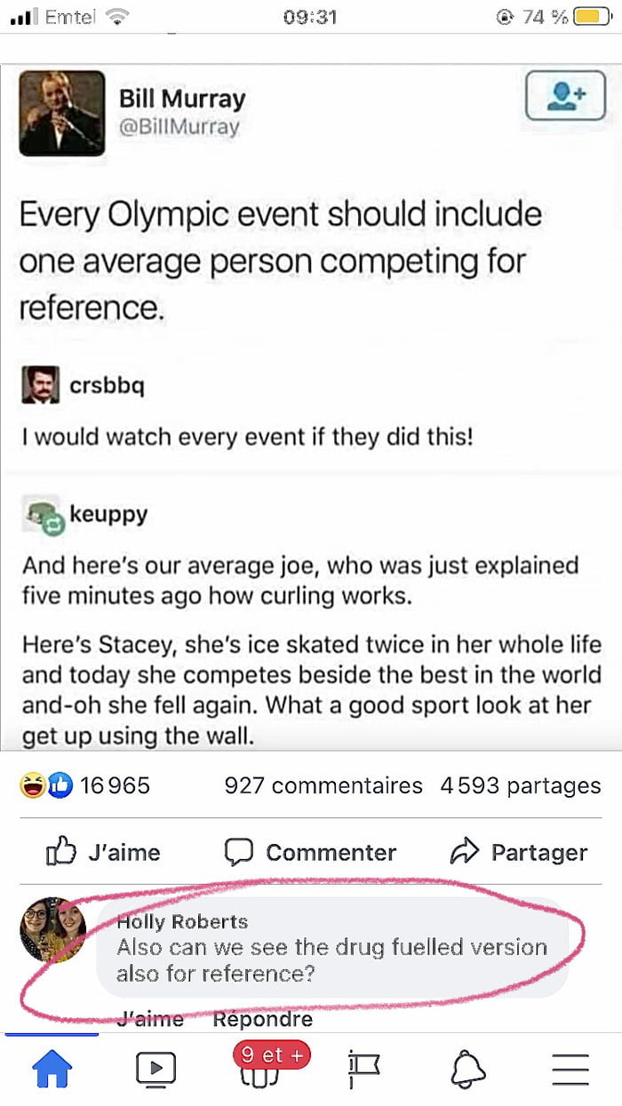 The idea we needed to make olympics really entertaining. (Not Bill Murray's one, the one in the comments below)
