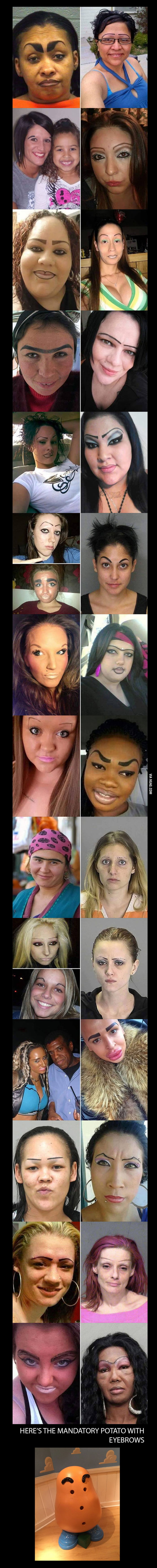 Eyebrows. Eyebrows everywhere.