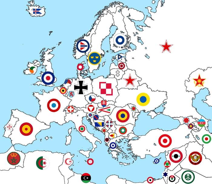 Aircraft marking along european countries