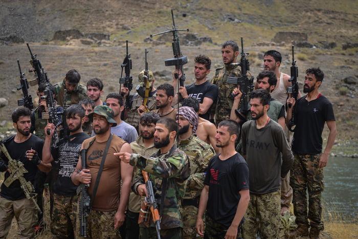 Anti-Taliban freedom fighters in Panjshir Valley, Afghanistan (2021).