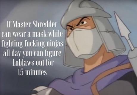 tmnt shredder mask covid