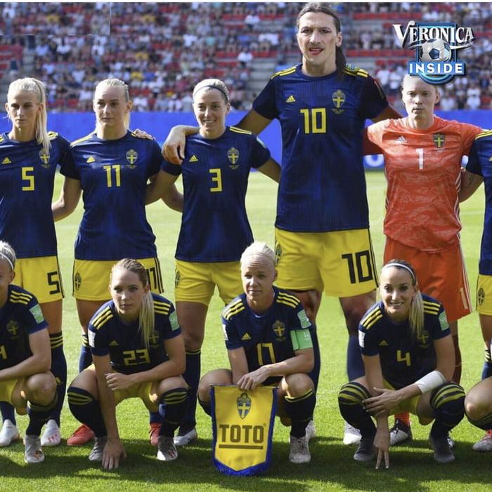 Surprise at the Swedish women football team