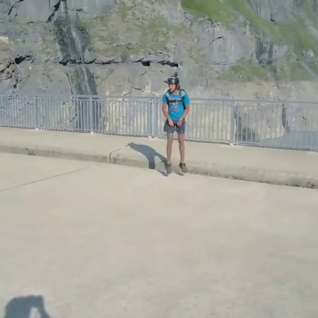 Video: Dam insane BASE jump.