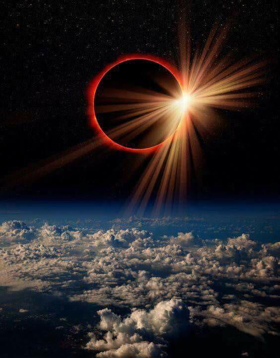 NASA's snapshot of the eclipse from space