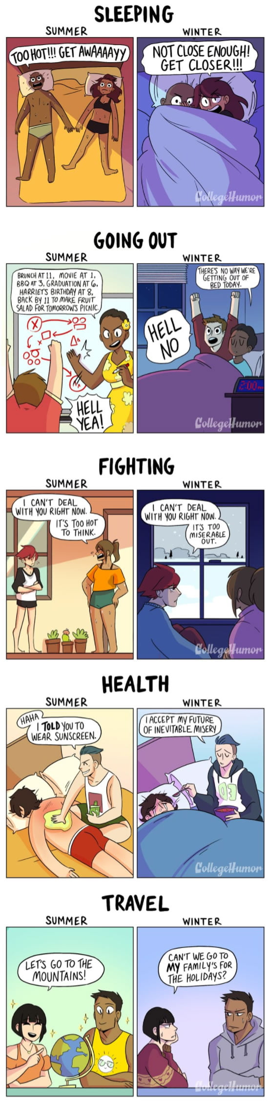 Relationships: Summer vs. Winter