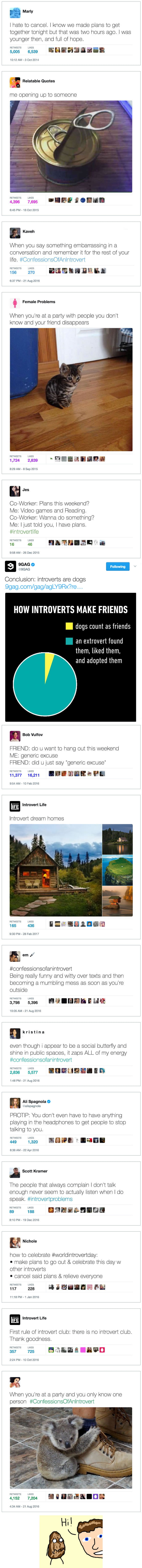 Funny and True Introvert Tweets