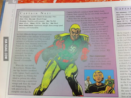 Did you know that there once was a Marvel charakter called Captain Nazi?