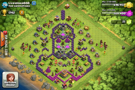 The best clash of clans base layout - 9GAG