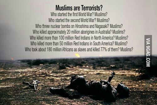 1.5 billion Muslims are blamed for the actions of insanely closed minded terrorists.