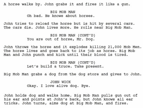 Bot Writes A John Wick Script And People Are Loving It 9gag