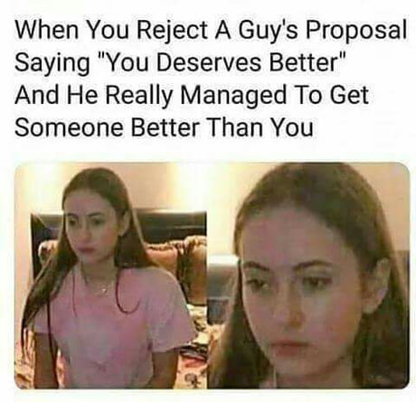 "I'd never go out with a girl who says ""you deserves"".... Oh who I'm  kidding, I totally would I mean if she wants to.... - 9GAG"